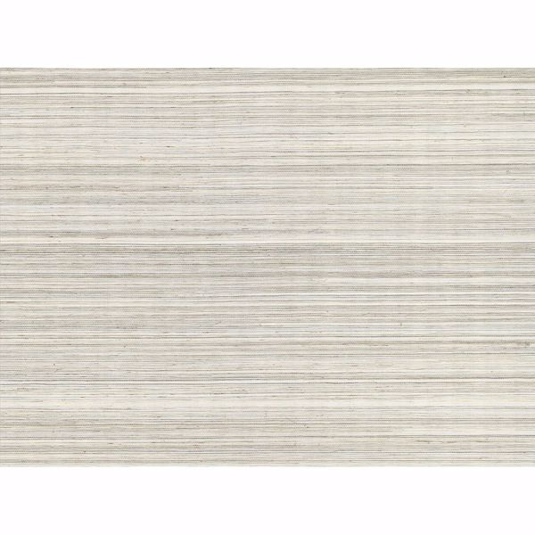 Picture of Zoysia Platinum Grasscloth Wallpaper
