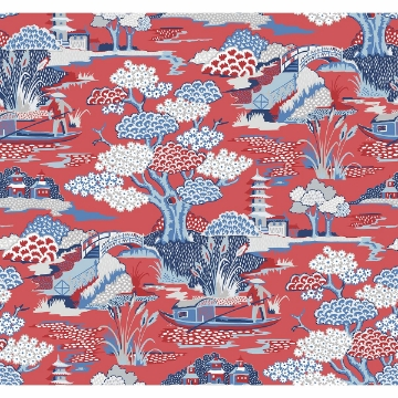 Picture of Joy De Vie Red Toile Wallpaper
