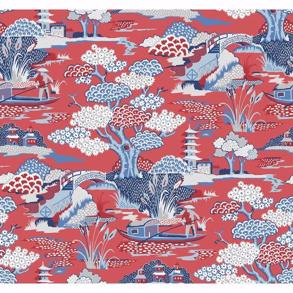 Picture of Joy De Vie Red Toile Wallpaper