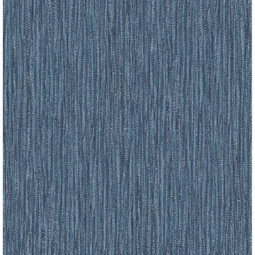 Picture of Raffia Thames Blue Faux Grasscloth Wallpaper