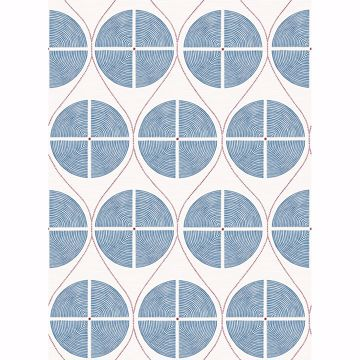 Picture of Luminary Blue Ogee Wallpaper