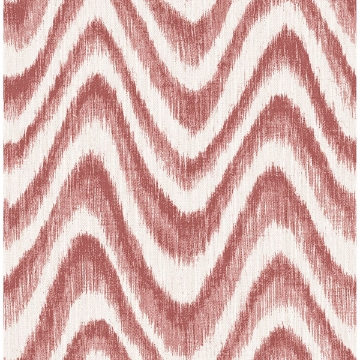 Picture of Bargello Red Faux Grasscloth Wave Wallpaper
