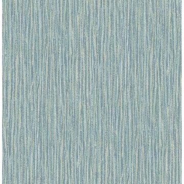 Picture of Raffia Thames Aqua Faux Grasscloth Wallpaper