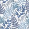 Picture of Palomas Blue Botanical Wallpaper