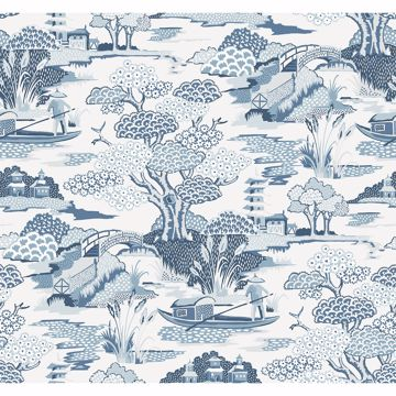 Picture of Joy De Vie Blue Toile Wallpaper