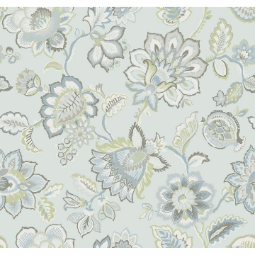 Picture of Corona Light Blue Jacobean Wallpaper