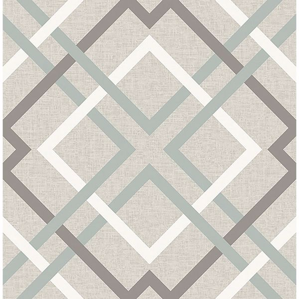 Picture of Saltire Emile Taupe Lattice Wallpaper