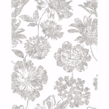 Picture of Folia Taupe Floral Wallpaper