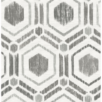 Picture of Borneo Taupe Geometric Grasscloth Wallpaper