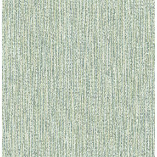 Picture of Raffia Thames Green Faux Grasscloth Wallpaper