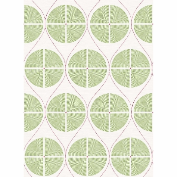 Picture of Luminary Green Ogee Wallpaper