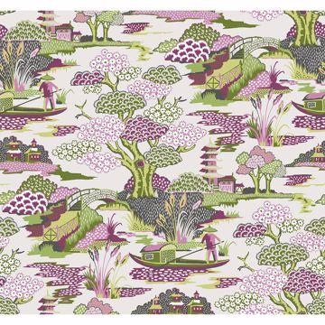 Picture of Joy De Vie Magenta Toile Wallpaper