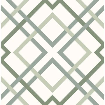 Picture of Saltire Emile Green Lattice Wallpaper