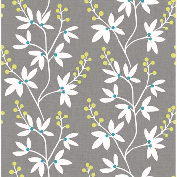 Picture of Linnea Elsa Taupe Botanical Trail Wallpaper