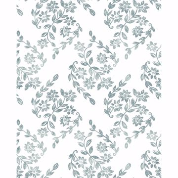 Picture of Arabesque Teal Floral Trail Wallpaper