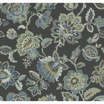 Picture of Corona Multicolor Jacobean Wallpaper