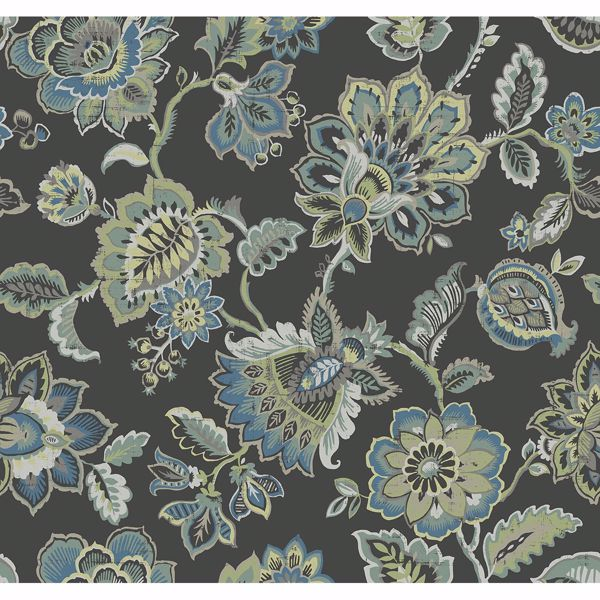Picture of Corona Multicolor Jacobean Wallpaper
