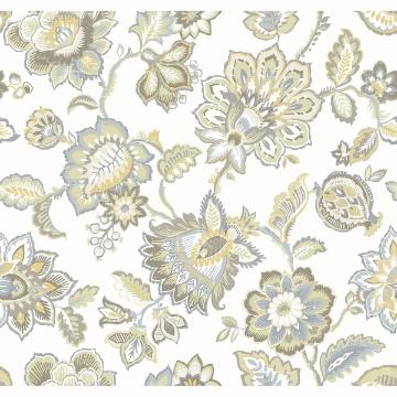 Picture of Corona Mustard Jacobean Wallpaper