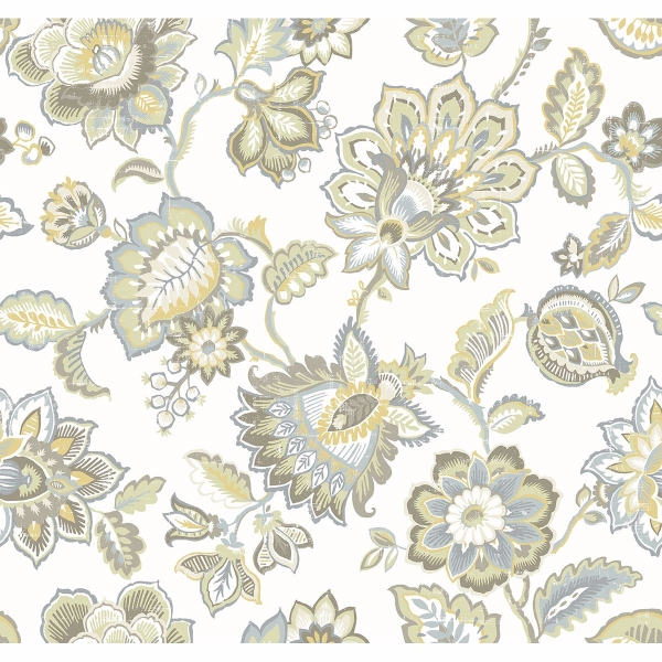 Picture of Corona Mustard Jacobean Wallpaper