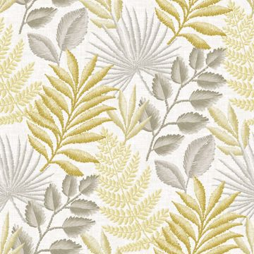 Picture of Palomas Mustard Botanical Wallpaper