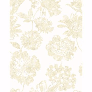 Picture of Folia Beige Floral Wallpaper