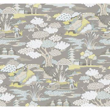 Picture of Joy De Vie Grey Toile Wallpaper