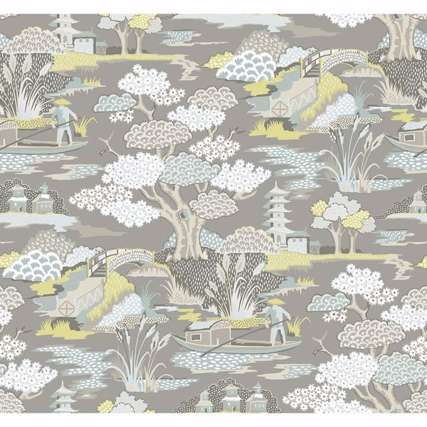 Picture of Joy De Vie Grey Toile Wallpaper