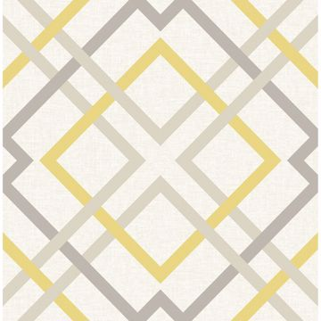 Picture of Saltire Emile Yellow Lattice Wallpaper