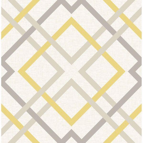 Picture of Saltire Emile Yellow Lattice Wallpaper