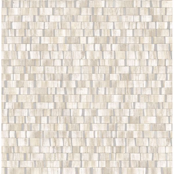Picture of Dobby Cream Geometric Wallpaper