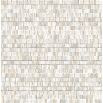 Picture of Dobby Champagne Geometric Wallpaper
