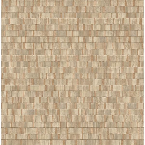 Picture of Dobby Copper Geometric Wallpaper