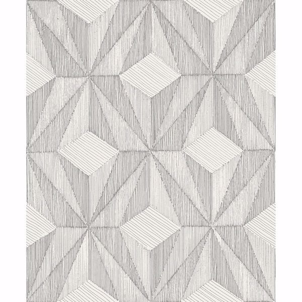 Picture of Paragon Silver Geometric Wallpaper