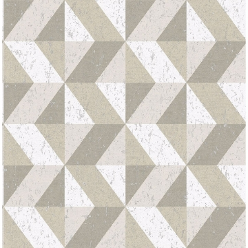 Picture of Cerium Neutral Concrete Geometric Wallpaper