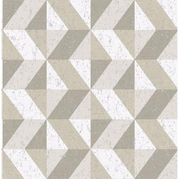 Picture of Cerium Neutral Concrete Geometric Wallpaper