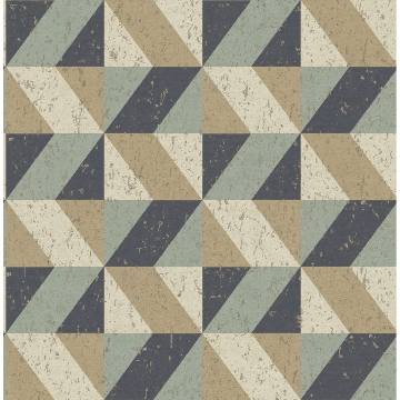 Picture of Cerium Multicolor Concrete Geometric Wallpaper
