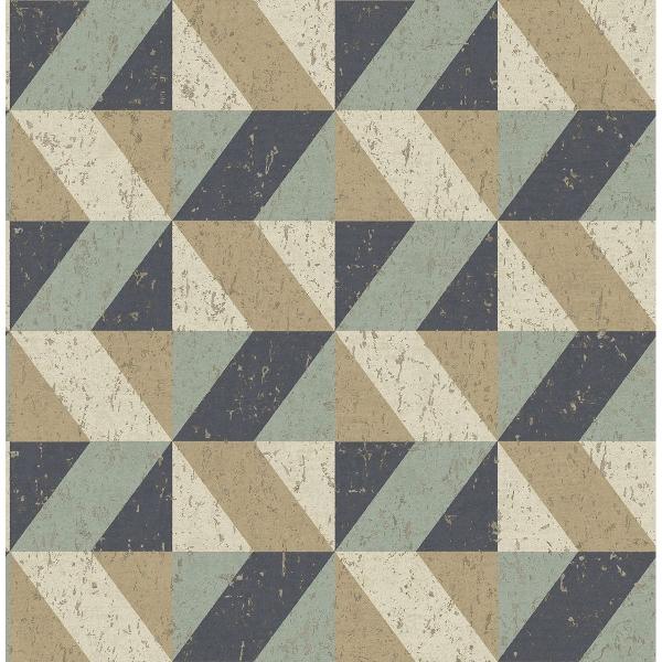 Picture of Cerium Multicolor Concrete Geometric Wallpaper
