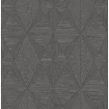 Picture of Intrinsic Dark Grey Geometric Wood Wallpaper