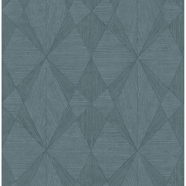 Picture of Intrinsic Teal Geometric Wood Wallpaper