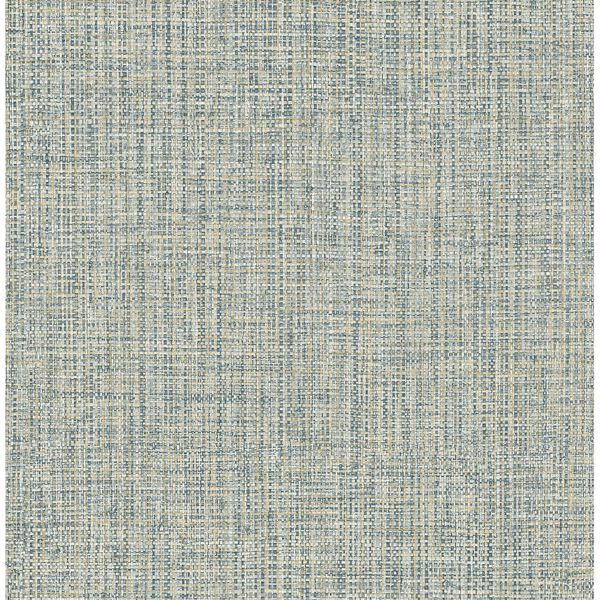 Picture of Rattan Teal Woven Wallpaper