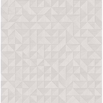 Picture of Gallerie Light Grey Geometric Wood Wallpaper