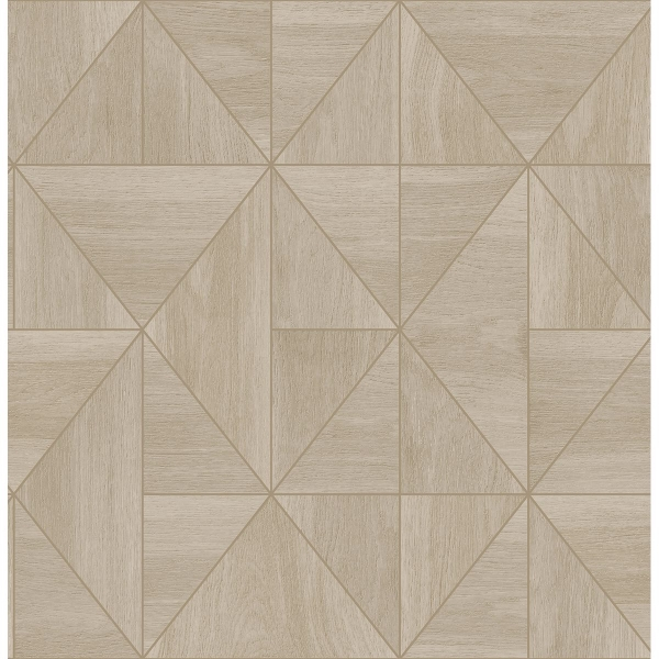 Picture of Cheverny Beige Geometric Wood Wallpaper