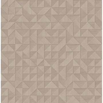 Picture of Gallerie Beige Geometric Wood Wallpaper