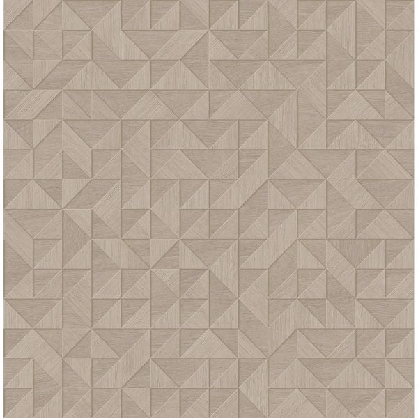 Picture of Gallerie Beige Geometric Wood Wallpaper