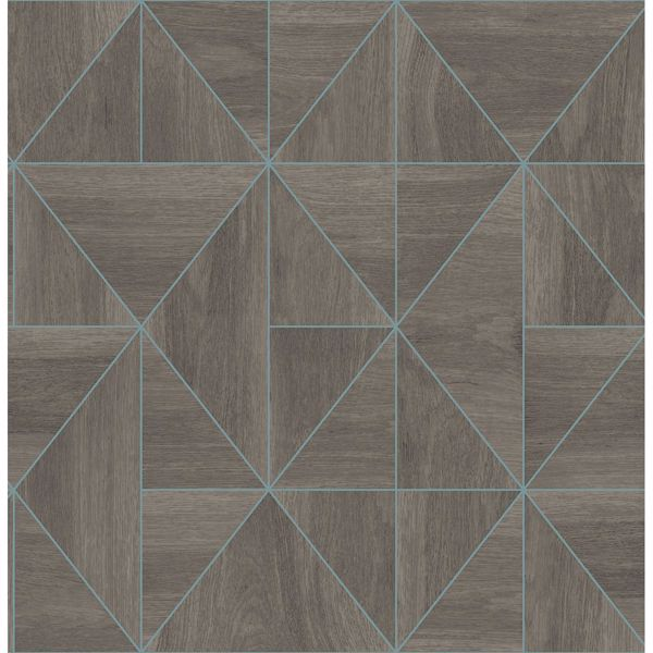 Picture of Cheverny Coffee Geometric Wood Wallpaper