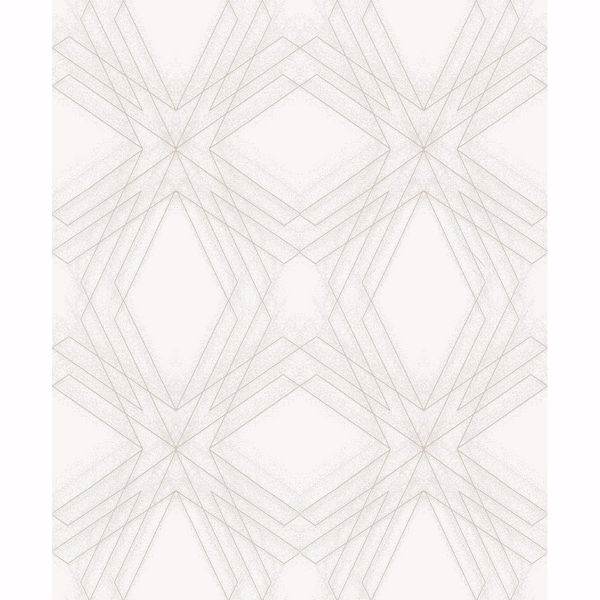 Picture of Relativity Off-White Geometric Wallpaper