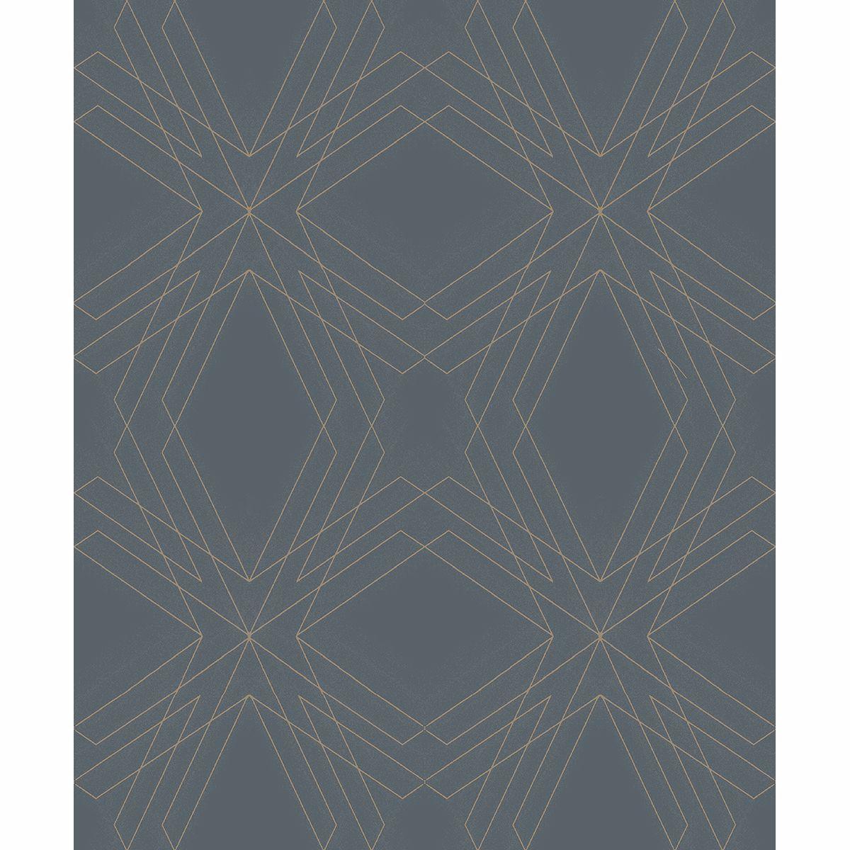 2908 87107 Relativity Charcoal Geometric Wallpaper By