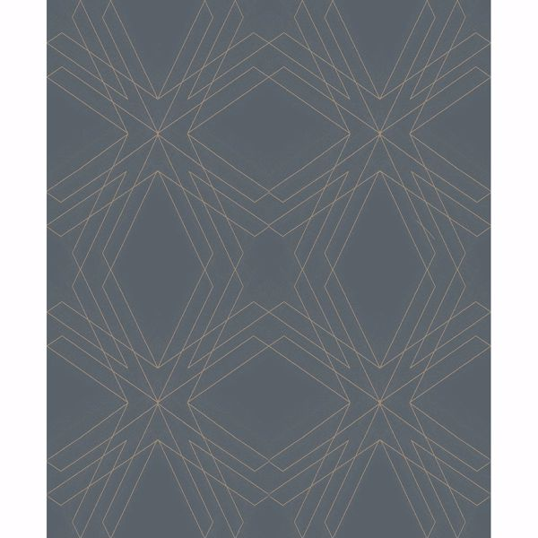 Picture of Relativity Charcoal Geometric Wallpaper