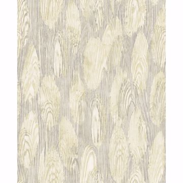 Picture of Monolith Light Yellow Abstract Wood Wallpaper