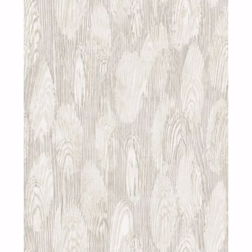 Picture of Monolith Silver Abstract Wood Wallpaper